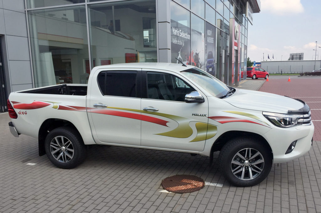 Polep vozu Toyota Hilux