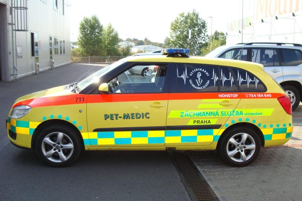Reklamní polep Škoda Fabia