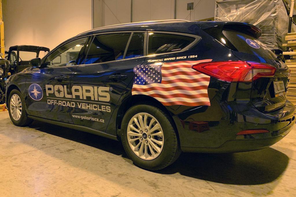 Reklamní polep Ford Focus