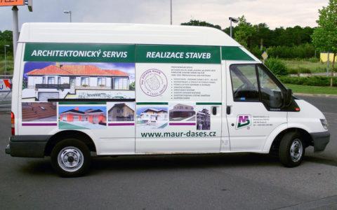 Reklamní polep Ford Transit