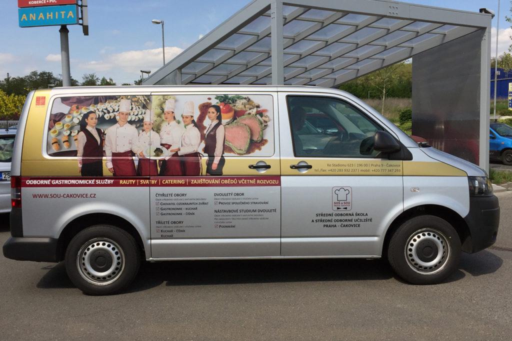 Reklamní polep VW Transporter