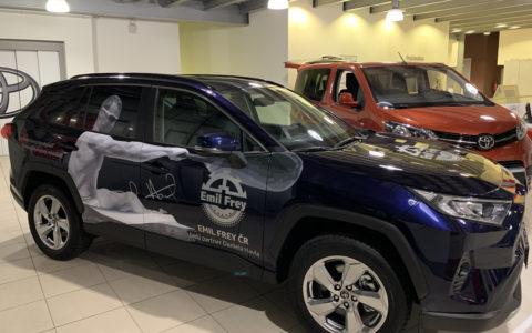 Reklamní polep Toyota RAV4