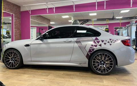Reklamní polep BMW