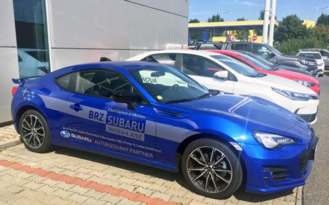 Reklamní polep Subaru BRZ